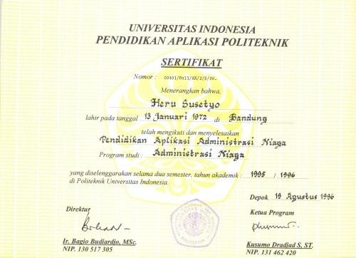 Ijazah Diploma 1 Adm Niaga Poltek UI Heru Susetyo0001