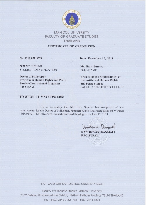 PhD certificate Heru Susetyo